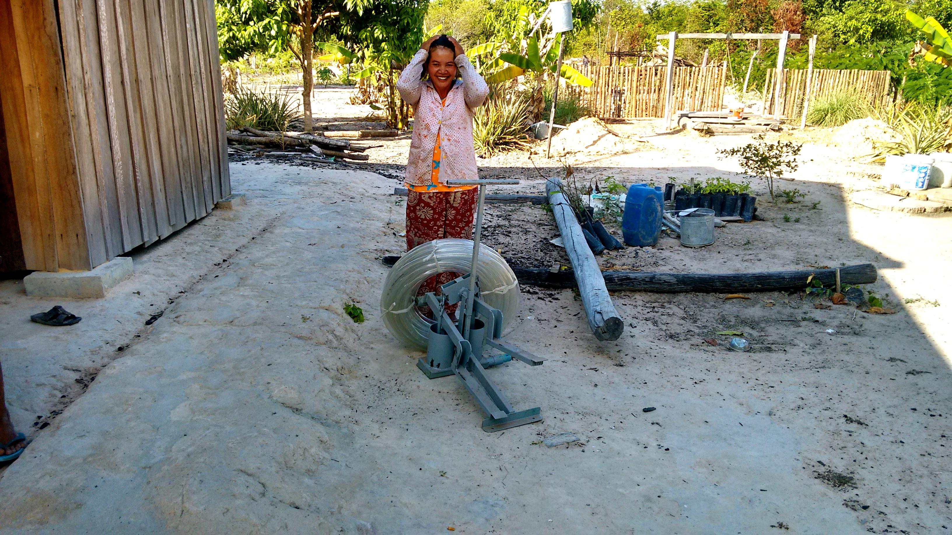 Farmer Upon Receiving Her Irrigation Pump