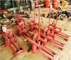 Rudi Khmer Pumps in manufacturing stages